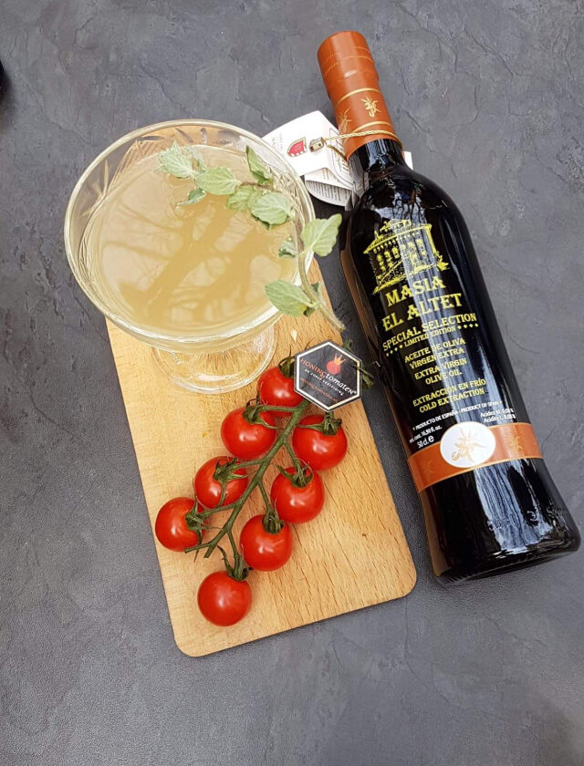 Olives on a  Mission, Don Julio infused with MASÍA EL ALTET