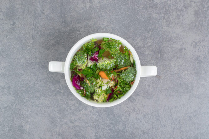 Exotic vegetable soup with healing powers