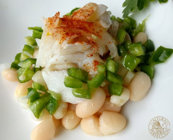 Recipe for haricot beans with cod