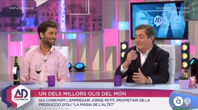 The Petit family, on the A Punt Directe programme on À Punt