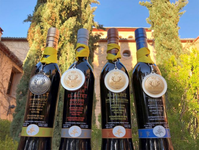 Masía El Altet's excellent results at the Los Angeles International Extra Virgen Olive Oil Competition