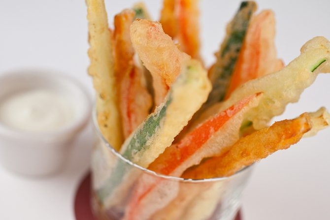 An easy recipe for tempura vegetables  and a  very healthy one into the bargain