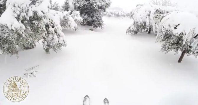 Snowfall in Masía El Altet, the perfect altitude for the best EVOO