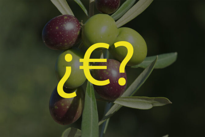 What does the price of olive oil depend on? We're going to analyse it
