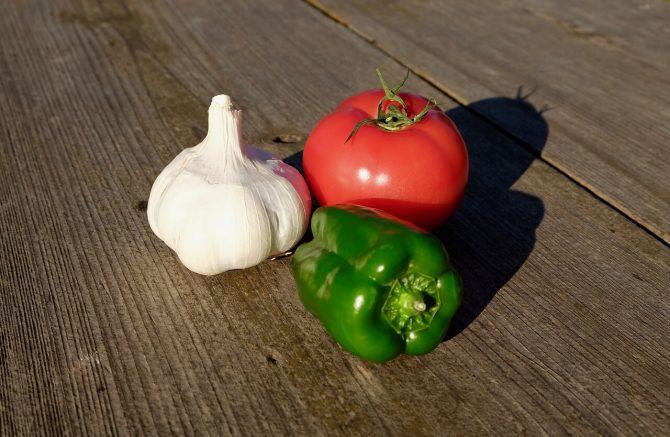 Vegan recipe for vegetables with noodles