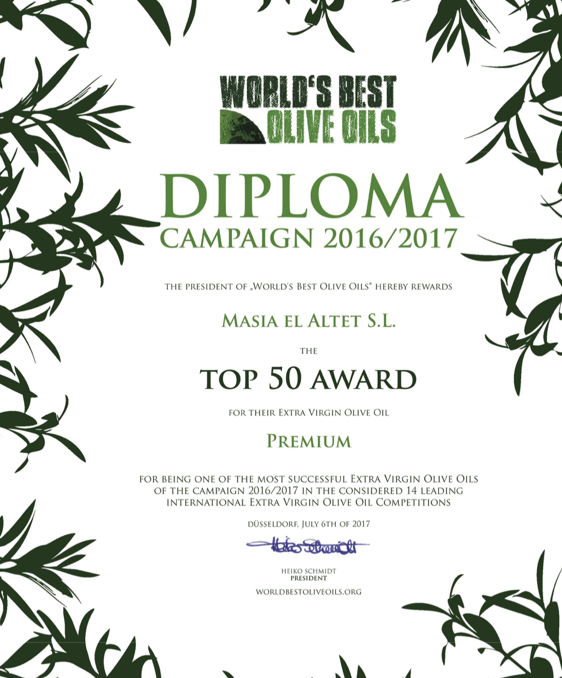 TOP 50 WORLD´S BEST OLIVE OILS