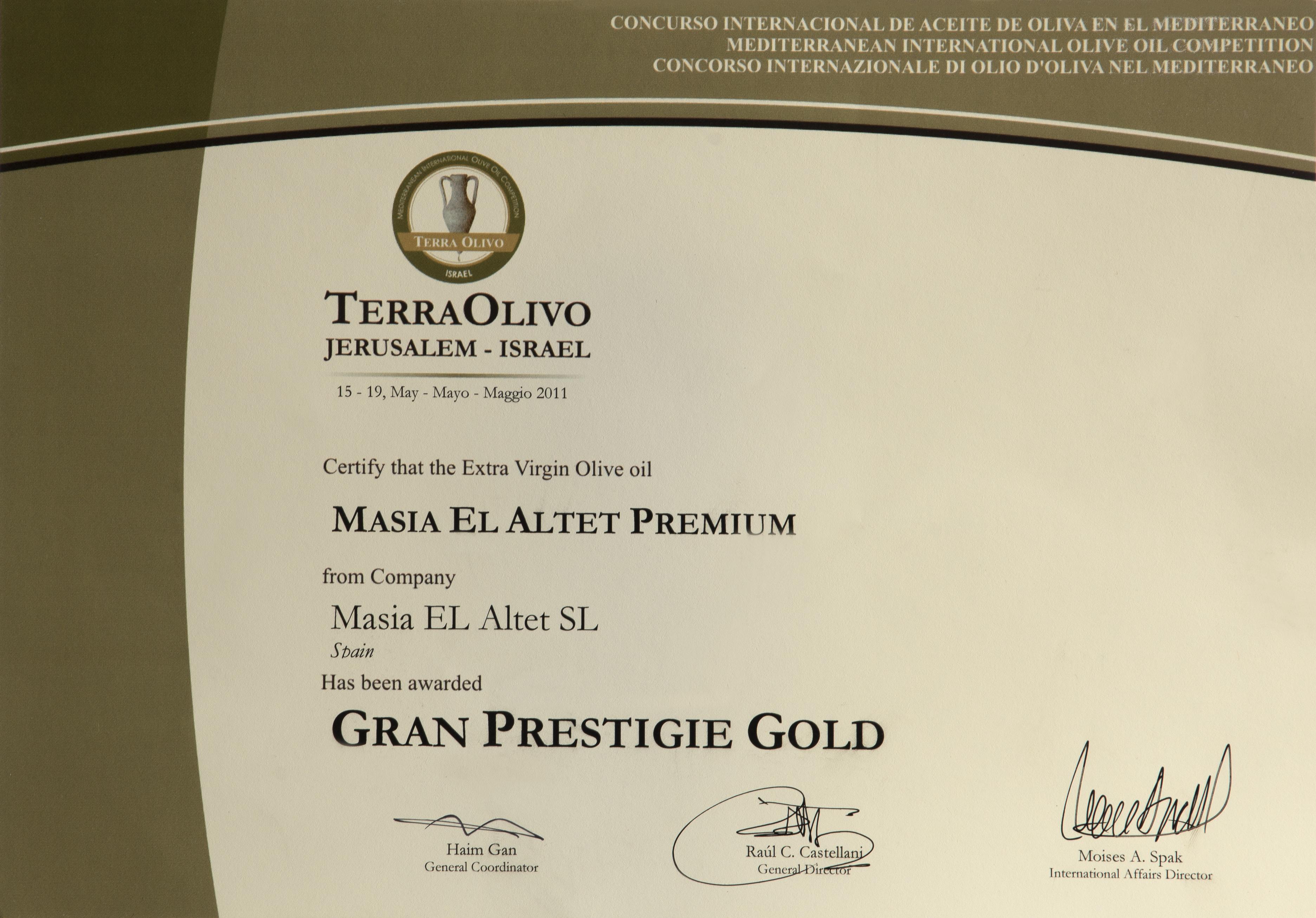 GRAND PRESTIGE GOLD Jersusalén
