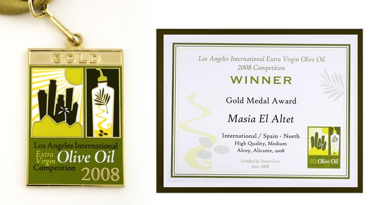 Medalla de Oro en el Certamen Internacional que premia la calidad de los aceites de oliva virgen extra, Los Ángeles Internacional